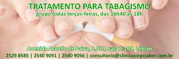 Tratamento para tabagismo todas terças-feiras