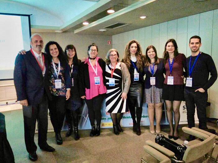 Dra Simone Hummel com a equipe de Psiquiatria da Faculdade de Coimbrã