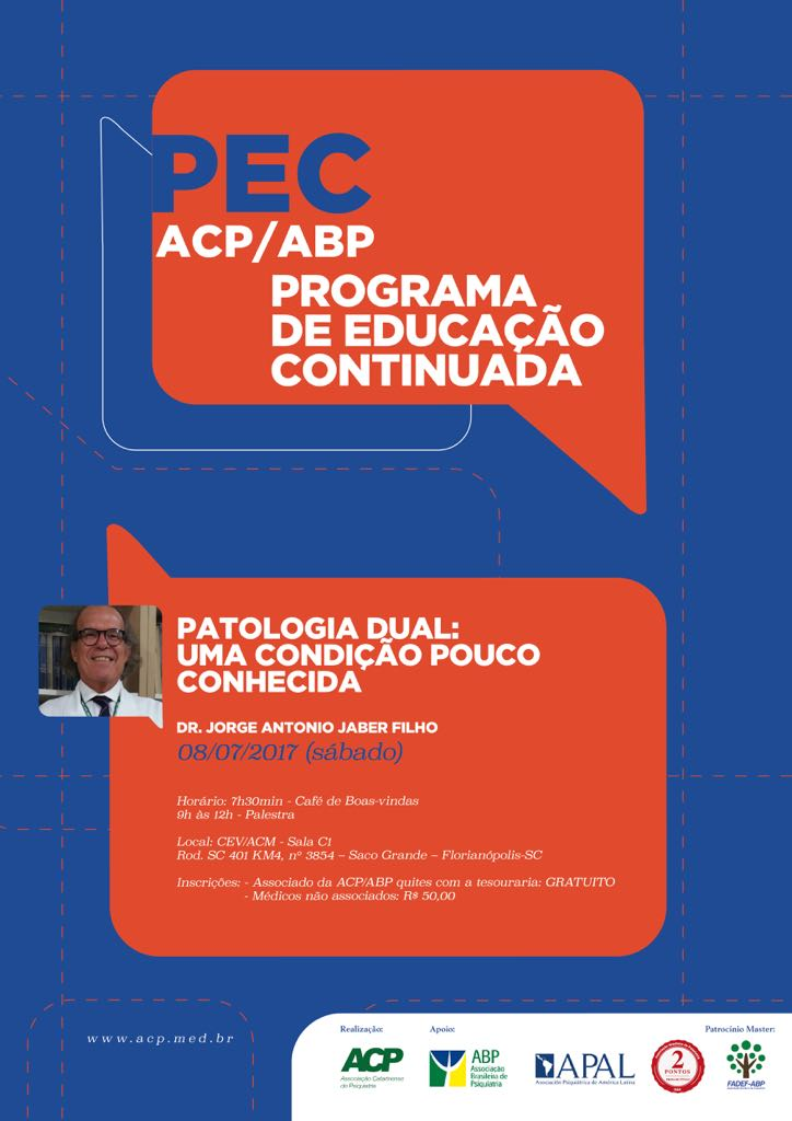 Dr. Jorge Jaber ministra palestra em Programa de Educação Continuada em julho. Confira a programação
