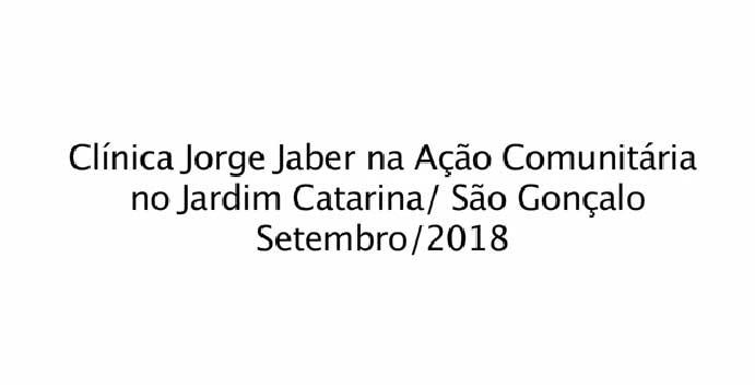 Ação Comunitária em Jardim Catarina