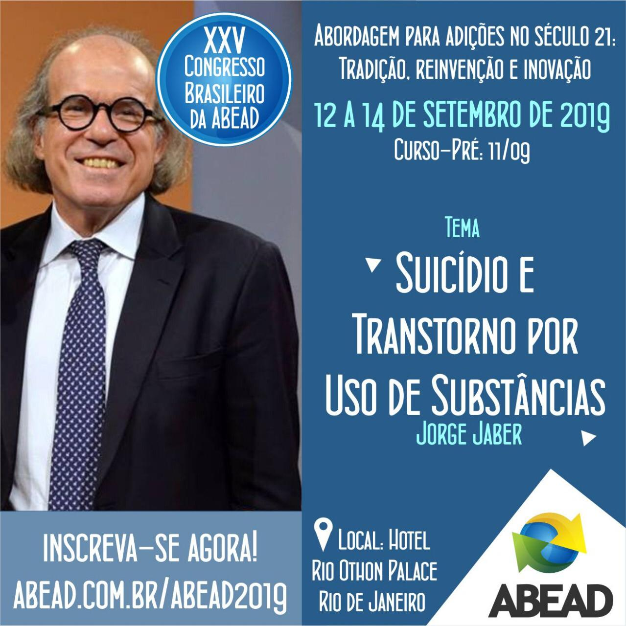 Dr. Jorge Jaber participa do XXV Congresso Brasileiro da ABEAD em setembro