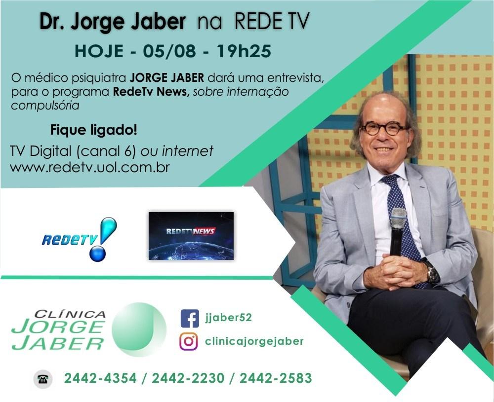 Dr. Jorge Jaber na Rede TV nesta segunda-feira, dia 5