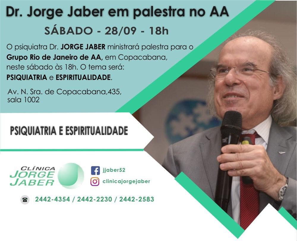 Dr. Jorge Jaber realiza palestra no AA neste sábado