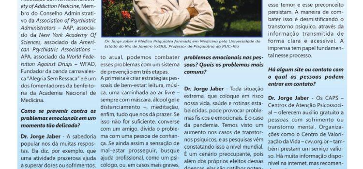 Dr. Jorge Jaber fala sobre saúde mental em tempos de pandemia ao jornal Em Destaque
