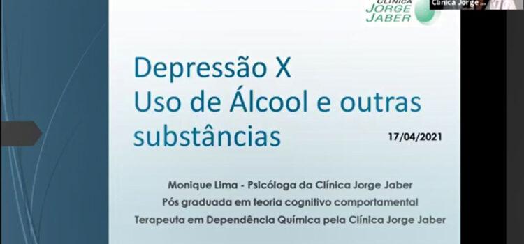 Depressão x Uso de Álcool e outras substâncias