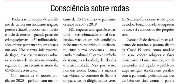 Artigo do Dr. Jorge Jaber no Correio da Manhã: Consciência sobre rodas